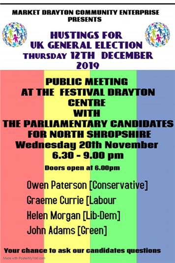 - Parlimentary candidates hustings