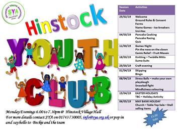 - Youth Club Programme
